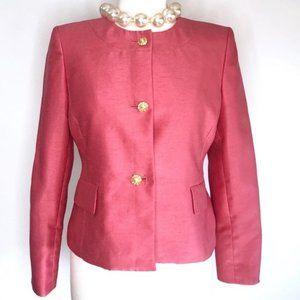 Vintage pink jacket gold button blazer 6P